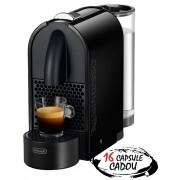 Espressor Nespresso U Pure Black De'Longhi + 16 capsule