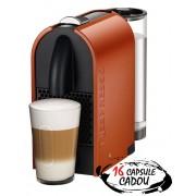 Espressor Nespresso U Pure Orange De'Longhi + 16 capsule