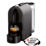 Espressor Nespresso U Mat Grey De'Longhi + 16 capsule