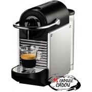 Espressor Nespresso DeLonghi Pixie EN125S Silver + 16 capsule